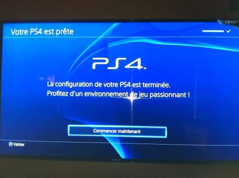 Configuration de la PS4