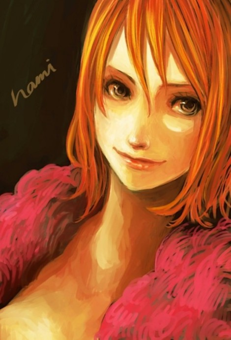 one piece nami artwork