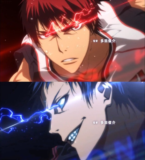 Kagami-and-Aomine-battle-in-the-Zone
