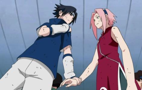 Sasuke_empêchant_Sakura_de_lever_sa_main